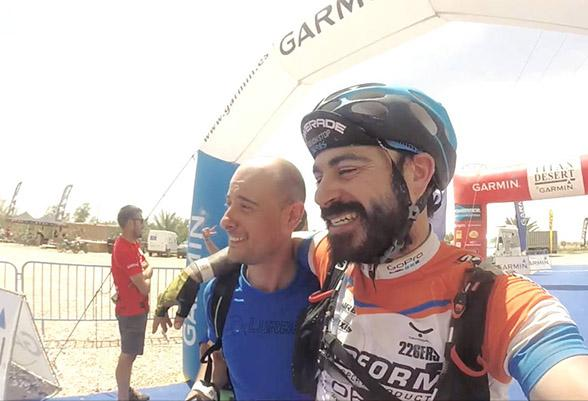 Juanjo López, known as El Peño, taught us a lesson of improvement in the Titan Desert race