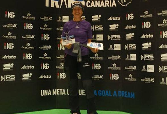 Yolanda Valiente, the Super Grandma, second place in master category in Transgrancanaria